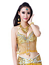Belly Dance Tops Women\'s Performance Polyester Appliques / Crystals/Rhinestones / Tassel(s) 1 Piece Sleeveless Top
