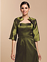 Elegant Half-Sleeve Taffeta Wedding/Evening Evening Jacket/Wrap (More Colors) Bolero Shrug