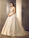 Ball Gown Plus Sizes Wedding Dress - Ivory Court Train Sweetheart Tulle