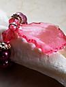 Vert / Rouge Acrylique Ronds de serviettes
