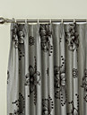 Country Two Panels Floral  Botanical Grey Bedroom Linen Panel Curtains Drapes