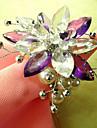 Land Flower Style Akrylpärlor Servett Ring, Dia4.2-4.5cm Set med 12