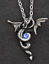 Smycken Gotisk Lolita Halsband Lolita Silver Blå lolita tillbehör Halsband Lappverk För Herr Dam Legering Konstädelstenar