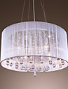 Max 40W Pendant Light ,  Modern/Contemporary / Drum Electroplated Feature for Crystal Metal Living Room / Bedroom / Dining Room