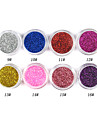 1PCS Laser Glitter Akryl Pulver för 3D Nail Art (Assorted Color, No.9-16)