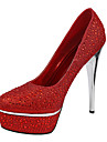 Women\'s Shoes Glitter Spring / Summer / Fall / Winter Heels Wedding / Dress Stiletto Heel RhinestoneBlack / Blue / Red / White / Silver /