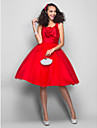 Homecoming Dress - Ruby Plus Sizes Ball Gown V-neck Knee-length Satin/Tulle