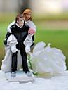Cake Topper Non-personalized Classic Couple / Sport Resin Wedding White / Black Classic Theme Gift Box