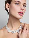 Shining Alloy With Rhinestones Jewelry Set,Including Necklace And Earrings