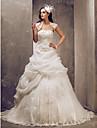 Lanting Bride® Balkjole Petit Plusstørrelser Brudekjole - Elegant og luksuriøs Glamourøs og dramatiskBryllupskjoler med Sjal Vintage