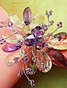 Ensemble de 12 Graceful Floral perles acryliques anneau de serviette, Dia4.2-4.5cm