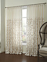 land två paneler blom- botaniska vita sängkläder panelgardiner draperier