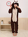 kigurumi Pyjamas Chipmunk Souris Collant/Combinaison Fete / Celebration Pyjamas Animale Halloween Marron Mosaique Toison de Corral