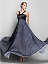 TS Couture® Formal Evening / Military Ball Dress - Black Plus Sizes / Petite A-line Halter Floor-length Chiffon