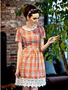 TS Vintage grade Lace Hem Vestido