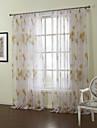 land två paneler blommig botanisk apelsin sovrum ren gardiner nyanser