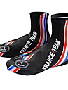 KOOPLUS - French National Team Polyester+Lycra Black+Blue Cycling Shoes Cover