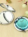 Coeur cadeau personnalise et modele amant Chrome miroir compact
