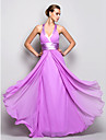 Prom/Military Ball/Formal Evening Dress - Lilac Plus Sizes A-line Halter Floor-length Georgette