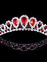 Alloy Tiaras With Rhinestone Wedding/Party Headpiece Red