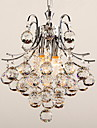 Pendant Light ,  Modern/Contemporary Chrome Feature for Crystal Plastic Living Room Bedroom