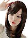 perruques moyens traditionnels droites de bang cote synthetique resistant a la chaleur des cheveux
