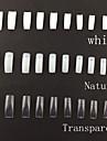 500 professionella koreanska standarder hälften väl falska akryl nail art tips (blandade färger, 50pcsx10 storlekar blandade)