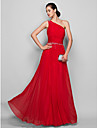 TS Couture Formal Evening / Prom / Military Ball Dress - Ruby Plus Sizes / Petite Sheath/Column One Shoulder Floor-length Chiffon