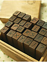 Capital Letters Wooden Stampers - Set of 28 Pieces