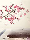 Flowers Butterfly Removable Wall Sticker