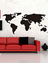 Map Wall Stickers Big Global World Map Atlas Vinyl Washable Wall Decals