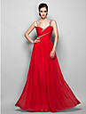 Homecoming Formal Evening/Prom/Military Ball Dress - Ruby Plus Sizes Sheath/Column Straps Floor-length Chiffon