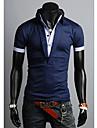 Men\'s False Two Piece Slim POLO Shirt
