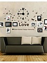 Black White Color Photo Wall Frame Collection Set of 11 with DIY a Wall Clock