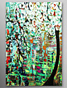 Hand Painted Oil Painting Knife painted Tree with Thick Texture with Stretched Frame Ready to Hang