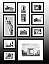 Svart New York Foto Wall Frame Collection Set med 10