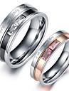 Inele Cuplu Cristal Teak imitație de diamant Inimă Bijuterii Nuntă Petrecere Zilnic
