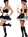 Cosplay Kostymer/Dräkter Uniformer Festival/Högtid Halloween Kostymer Vit / svart Klänning / Krage / Huvudbonad Halloween / Karnival
