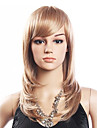 Haute Qualite 20% de cheveux humains et 80% resistant a la chaleur fibre cheveux Capless perruque bouclee (Platinum Blonde)