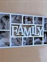 Anglais Parole famille ABS blanc Photo Wall Frame Collection Ensemble de 10