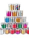 1PCS Laser Folie nageldekorationer Starry Klistermärken (120x2.5x0.1cm, blandade färger)