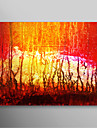 Hand Painted Oil Painting Abstract Red Painting with Stretched Frame Ready to Hang