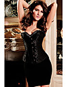 Women Overbust Corset , Polyester/Spandex Lace Up