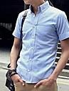 Revers Slim manches courtes T-shirt des hommes
