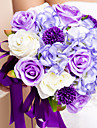 "Wedding Flowers Round Roses Bouquets Wedding As Picture Silk Purple 11.02""(Approx.28cm)"