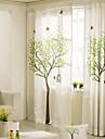 designer två paneler blommig botaniska sovrum linne bomullsblandning panelgardiner draperier
