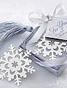 Mignon creux de flocon de neige avec des glands 6.5 * 6.5 * 1 metal Favoris & Clips (Argent, 1pc)