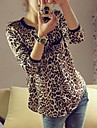 Women\'s Leopard Print Loose Blouse