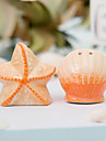 Ceramic Shell & Star Salt & Pepper Shakers Wedding Favor (Set of 2)