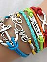 Faith, Love & Anchor Bracelet-Antique Silver Charm Bracelet inspirational bracelets Jewelry